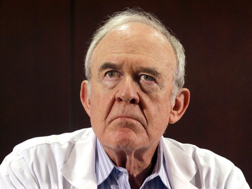 Dr. Edward Goodman, epidemiologist at Texas Health Presbyterian Hospital Dallas, where the unnamed Ebola patient was first admitted, at a news conference on Tuesday.