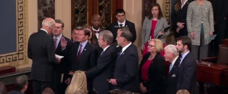 U.S. Senator John Boozman (R), among others, gets sworn in for a second term.