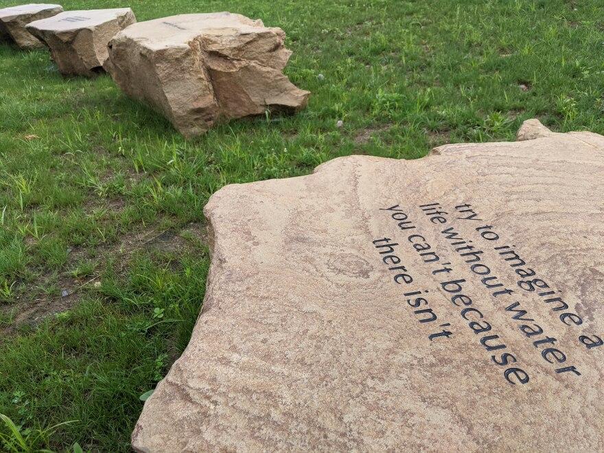 art installation at Liberty Park