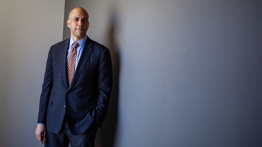 Cory Booker poses for a portrait at NPR headquarters in Washington, D.C. Underlying many of Booker's points is a belief that it's possible to create bipartisan consensus, even while the partisan divide in America seems to grow ever wider.