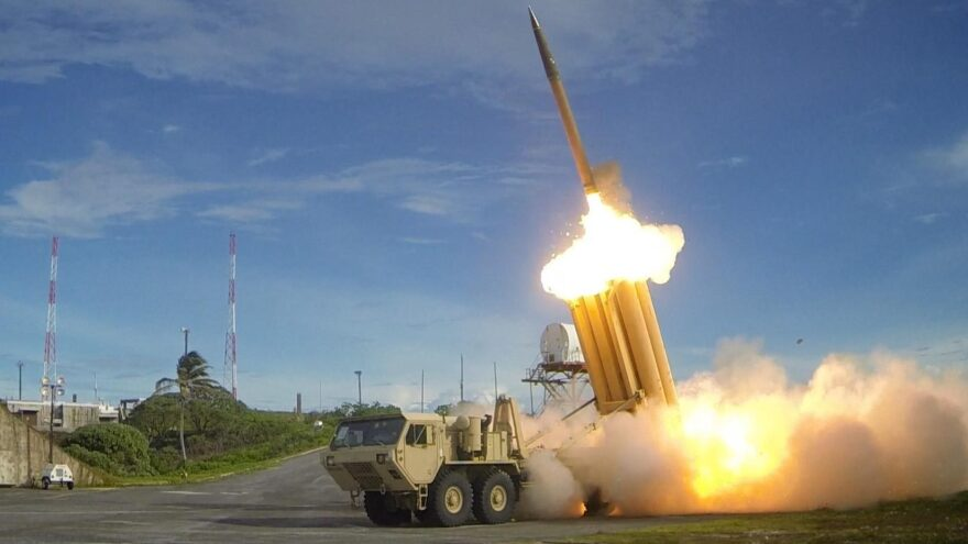 A Terminal High Altitude Area Defense missile interceptor system is now functional at its South Korean site. In this photo from 2013, one of the THAAD systems is seen performing a test launch.