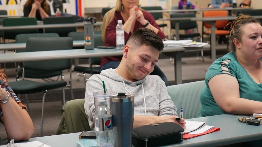 Matt takes notes