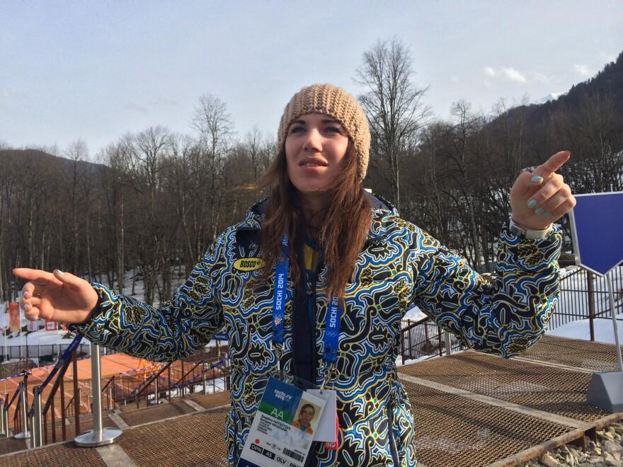 Ukrainian skier Bogdana Matsotska.