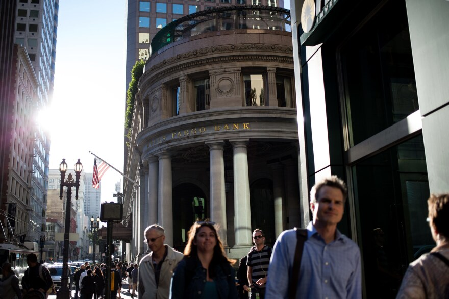 The Crocker branch of Wells Fargo on 1 Montgomery Street in San Francisco, where former employees say the sales pressure was also intense and the deceptive practices widespread.
