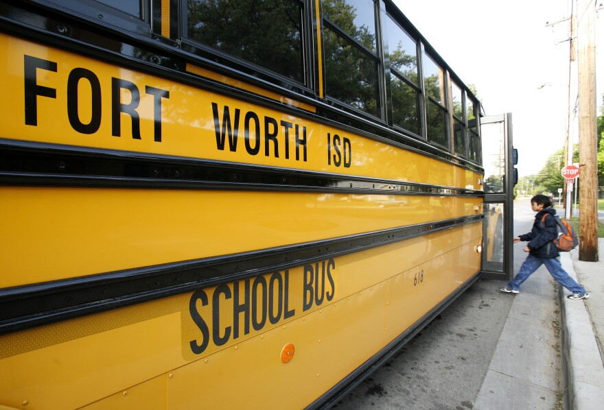 Fort Worth ISD school bus