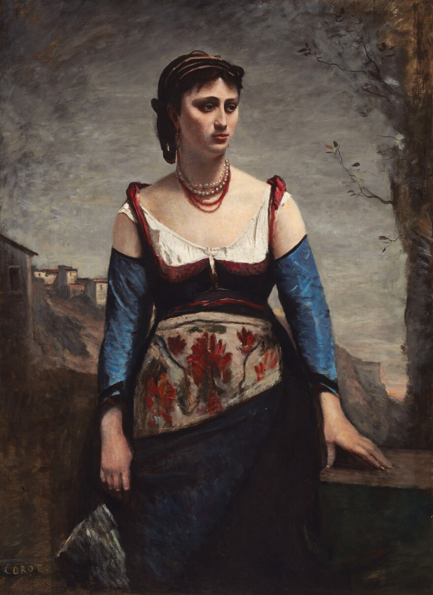 Corot painted <em>Agostina — </em>an Italian country woman — in 1866.