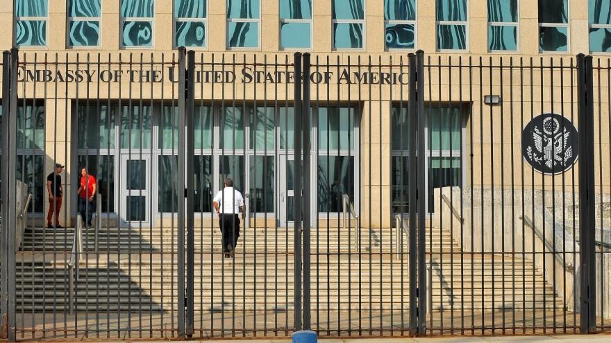 The U.S. Embassy in Havana in December 2015.
