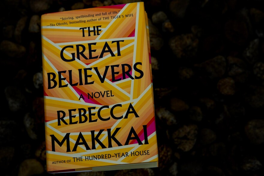"""The Great Believers,"" by Rebecca Makkai. (Robin Lubbock/WBUR)"