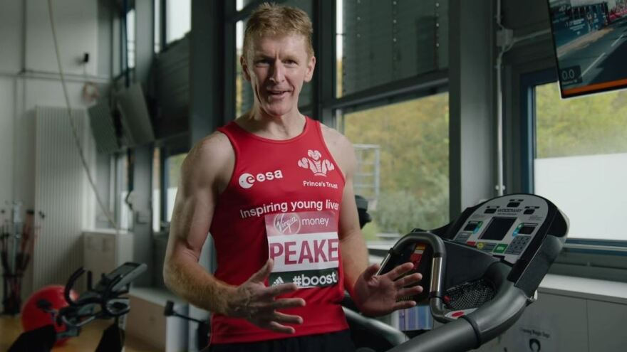 The British astronaut Tim Peake says he'll be running the London Marathon virtually — from around 250 miles above the Earth's surface.