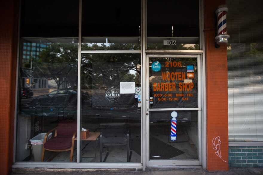 The Wooten Barber Shop, which has been on Guadalupe since 1964, was forced to close at the beginning of the pandemic.