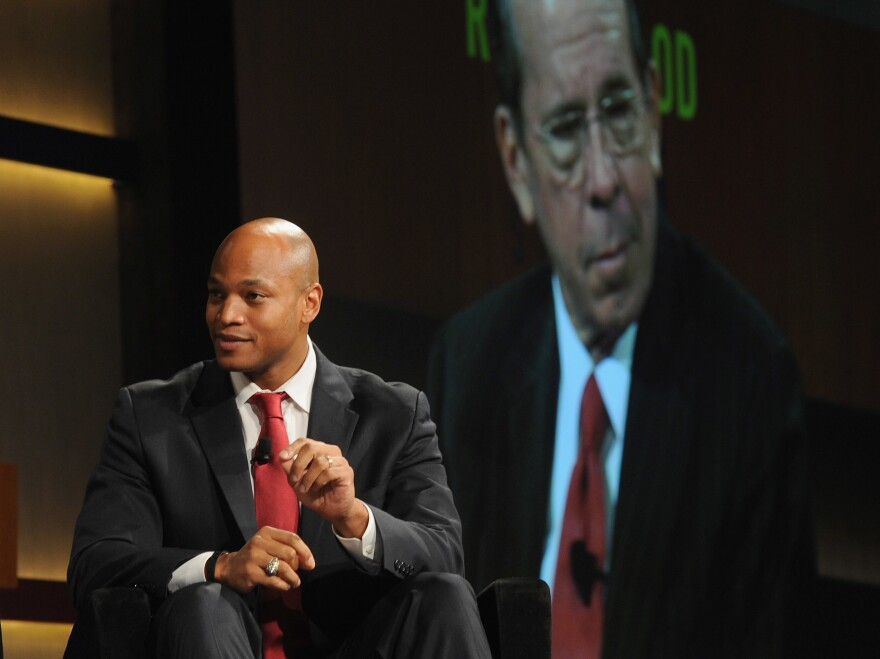 Wes Moore speaks at the Robin Hood Veterans Summit at Intrepid Sea-Air-Space Museum on May 7, 2012 in New York City.