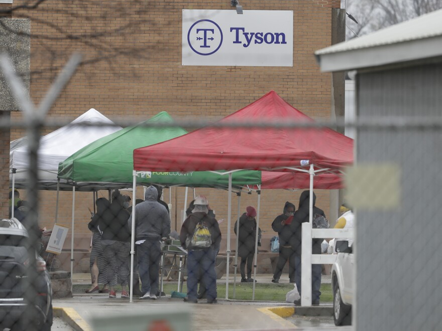 Tyson tested every worker at about 20 of its plants, including this one in Logansport, Ind., after workers got sick. The company is now considering ongoing random testing to try to keep outbreaks from flaring.