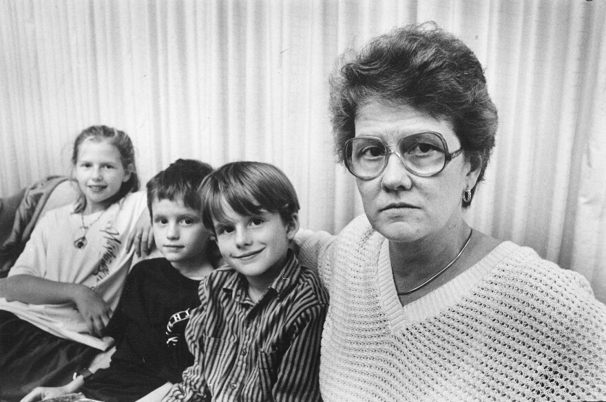 "Ann Hopkins, pictured with her children, was the plaintiff in a landmark case about sex-discrimination in the workplace — Price Waterhouse v. Hopkins. The Supreme court ruled in 1989 that ""sex stereotyping"" — discriminating against someone for not conforming to gender-based expectations — is a form of sex discrimination."