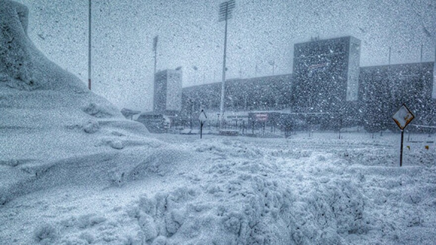 A massive amount of snow is keeping the Buffalo Bills from playing on Sunday at Ralph Wilson Stadium. The game with the New York Jets has been moved to Detroit, and they'll play Monday night.