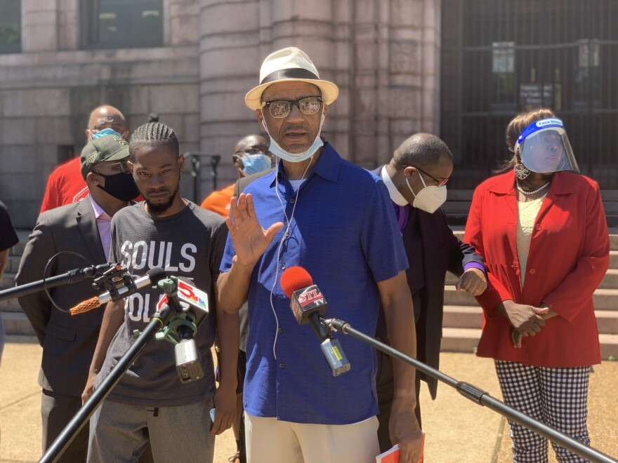 The Rev. Darryl Gray and other members of the St. Louis Metropolitan Clergy Coalition say the violence that has occurred after protests detracts from the movement for black lives. June 2, 2020