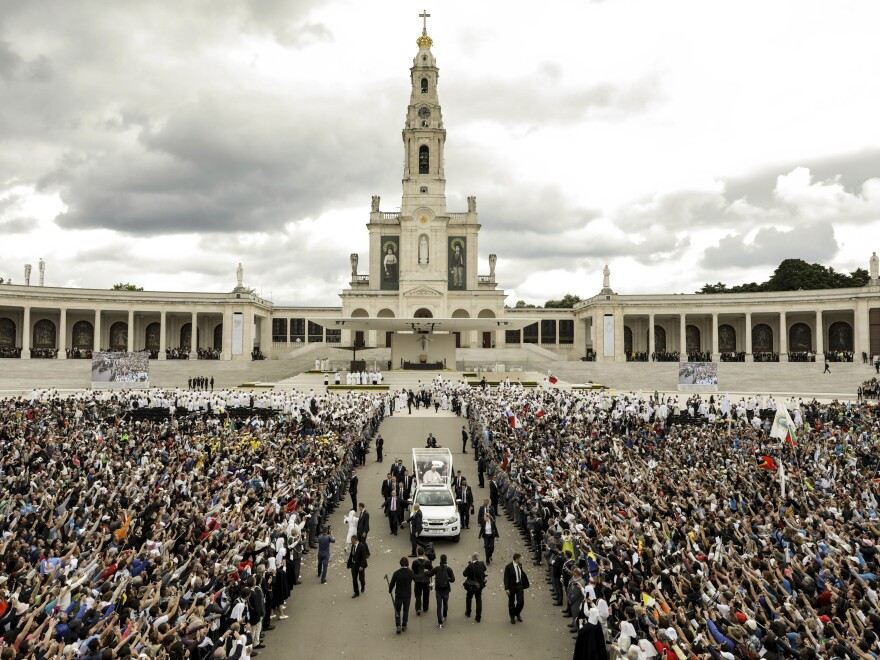 Hundreds of thousands of pilgrims gathered in Fatima, Portugal, on Saturday, where Pope Francis canonized two new saints. Jacinta and Francisco Marto were children 100 years ago when their visions of the Virgin Mary marked this place as an important Catholic shrine.
