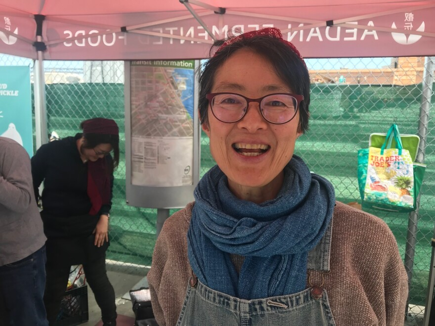 Mariko Grady had a 30-year career as a singer and dancer in Japan, and founded a theatrical dance company there. Now she sells her homemade miso at the Ferry Plaza Farmer's Market.