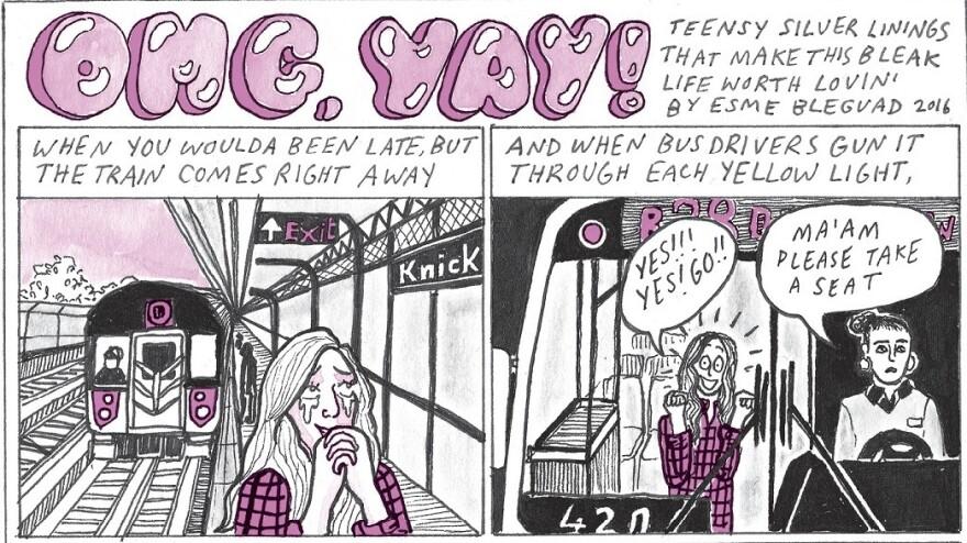 """""""OMG, yay!"""" by Esme Blegvad in <em>Rookie On Love</em>."""