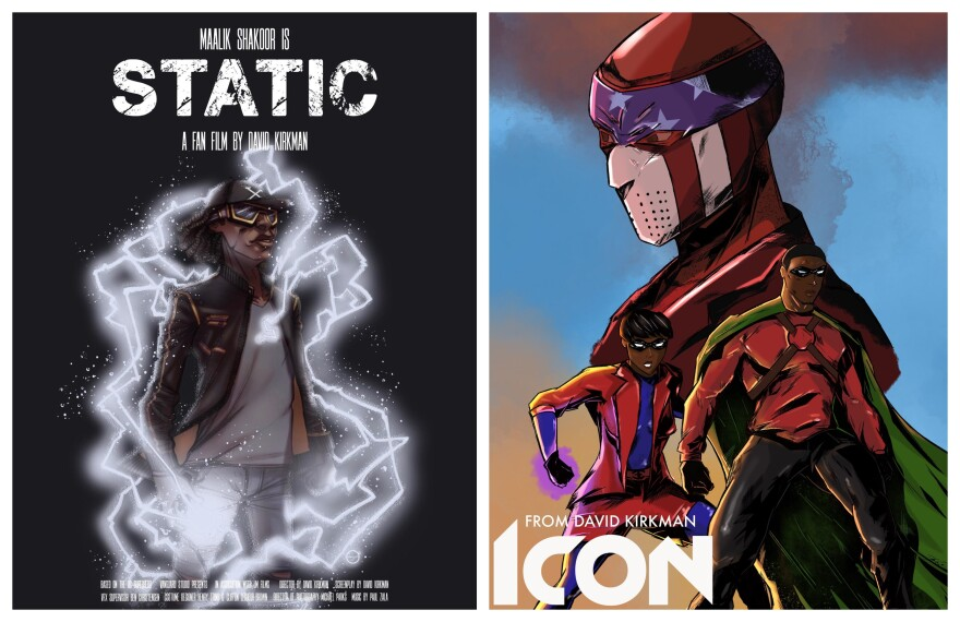 """Static"" and ""Icon"" were directed by David Kirkman. They're fan films based on the characters created by Milestone Media."