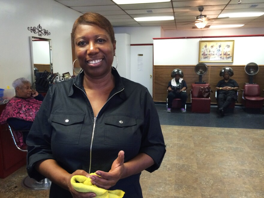 """""""This election, I know I'm gonna end up going with Hillary,"""" said Brenda Barron, the owner of Samiyah's salon. """"I think because of the choices that's out there. Choices are limited."""""""