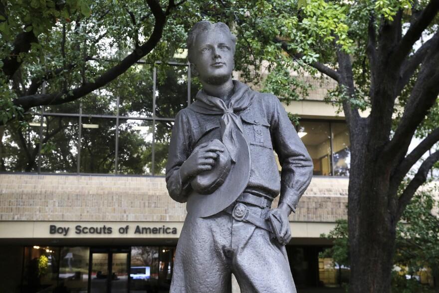 Statue outside Boys Scouts of America headquarters