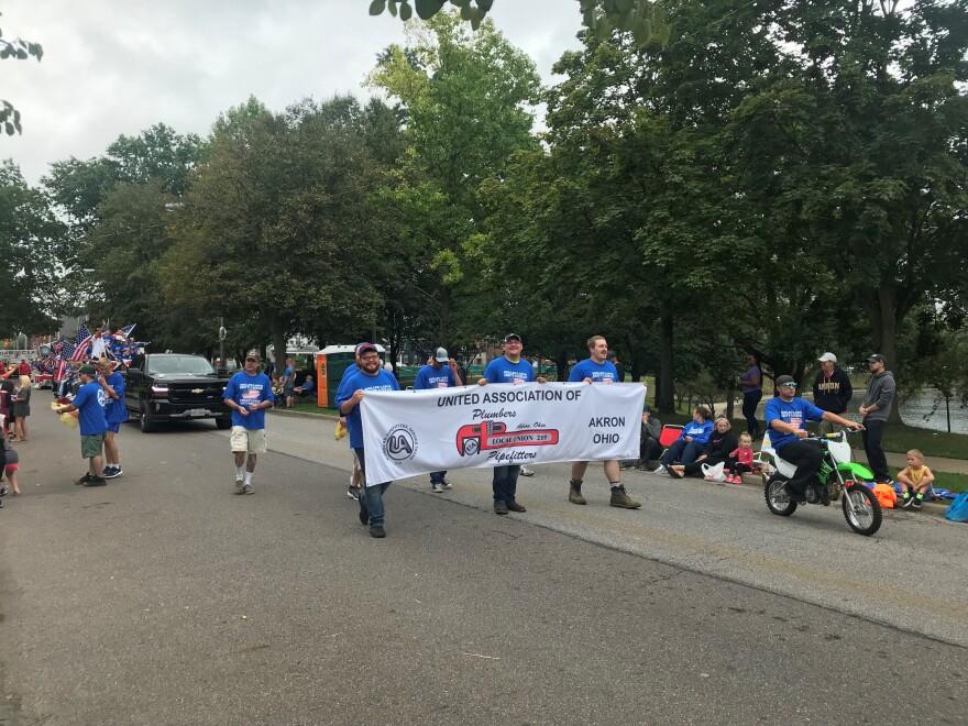 a photo of a Barberton labor day parade