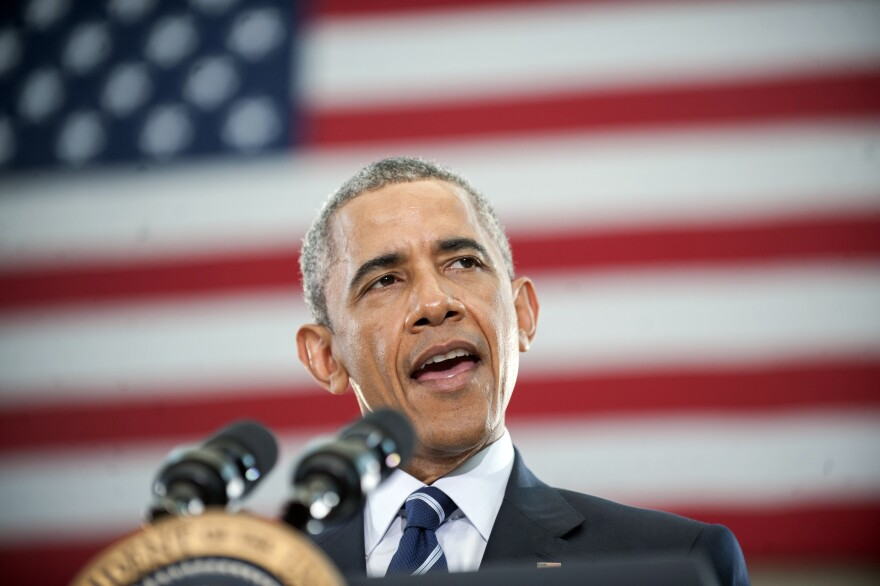 President Barack Obama speaks at the Ray & Joan Kroc Corps Community Center on Monday in Camden, N.J.