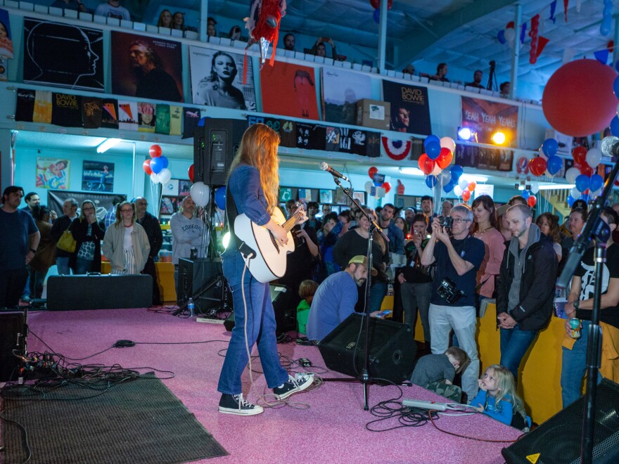 Jade Bird performs a set at Good Records in Dallas' Lower Greenville neighborhood.