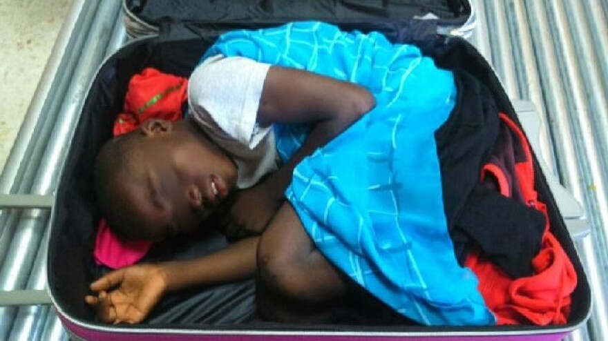 Spain's Civil Guard released this image of a boy, 8, who was the subject of a smuggling attempt.
