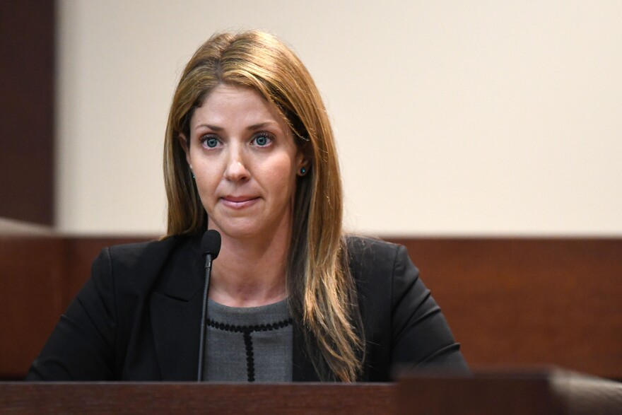 Wendi Adelson, Dan Markel's ex-wife, takes the stand during the murder trial to for Markel's death.