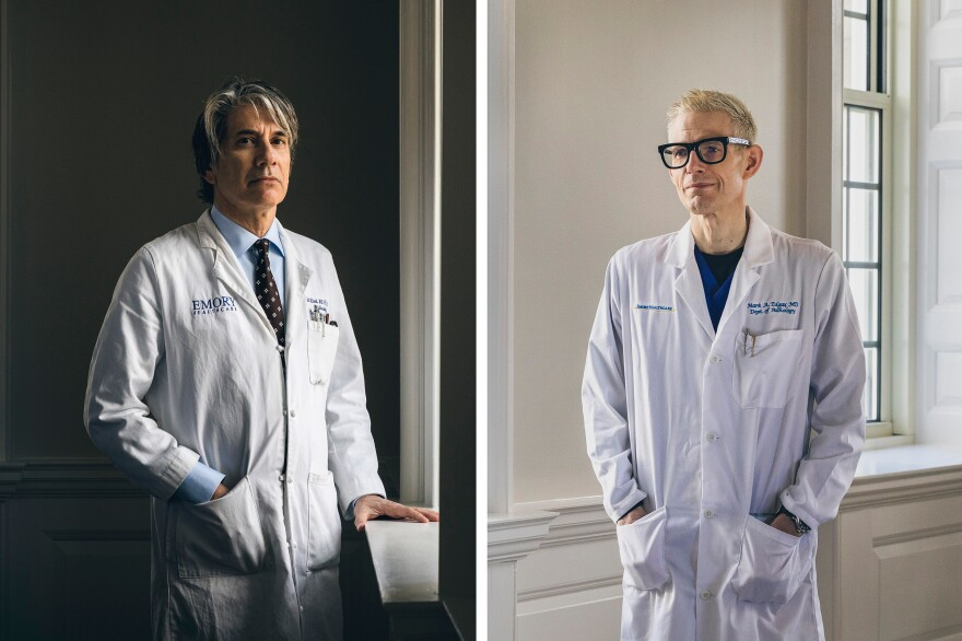 Drs. Joel Zivot (left) and Mark Edgar, of Emory University Hospital in Atlanta, first found evidence of pulmonary edema in inmate autopsies in 2016. Their findings are now at the forefront of legal challenges to lethal injection across the country.