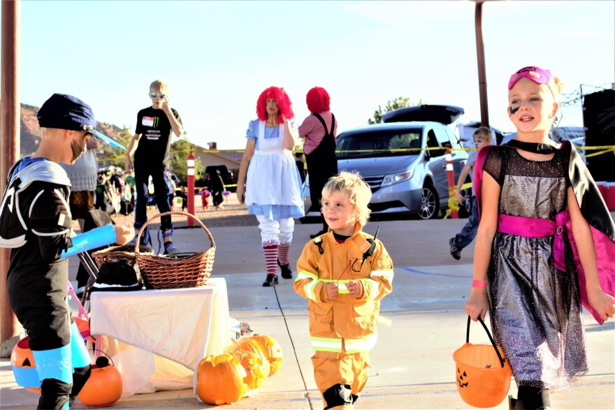 Photo of kids in costume.