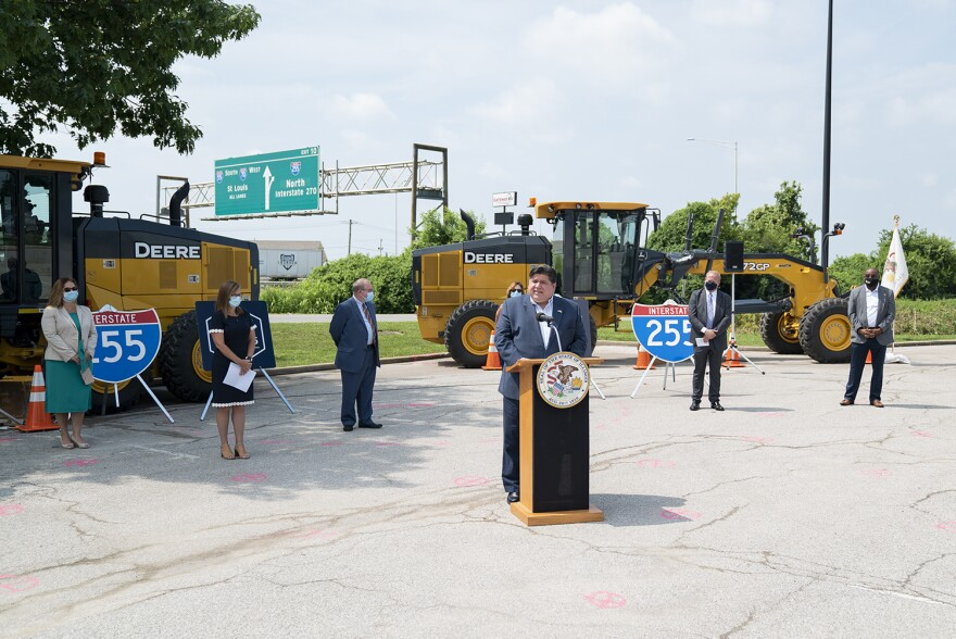 Illinois Gov. J.B. Pritzker announces $1.8 billion will come to the Metro East for infrastructure improvements on July 21. The money will pay for bridge and road repairs or full replacements.