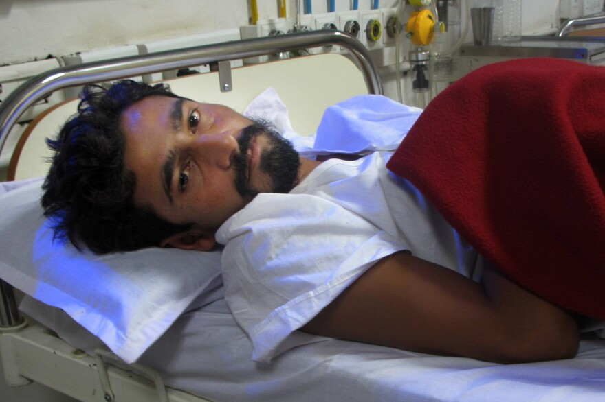 Vashram Sarvaiya was beaten for doing his job — helping dispose of the carcass of a dead cow.