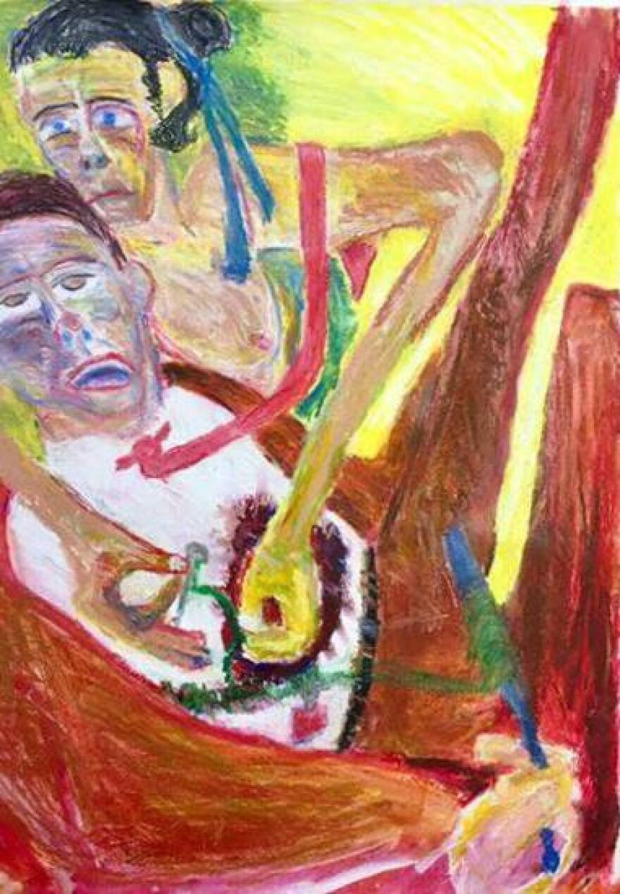 Worth's Red Tie series of paintings examines the psychological framework that society assigns to symbols.