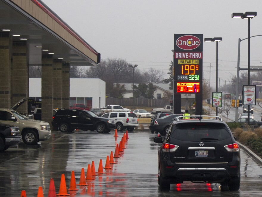 Gas prices in Oklahoma City have dipped under $2.