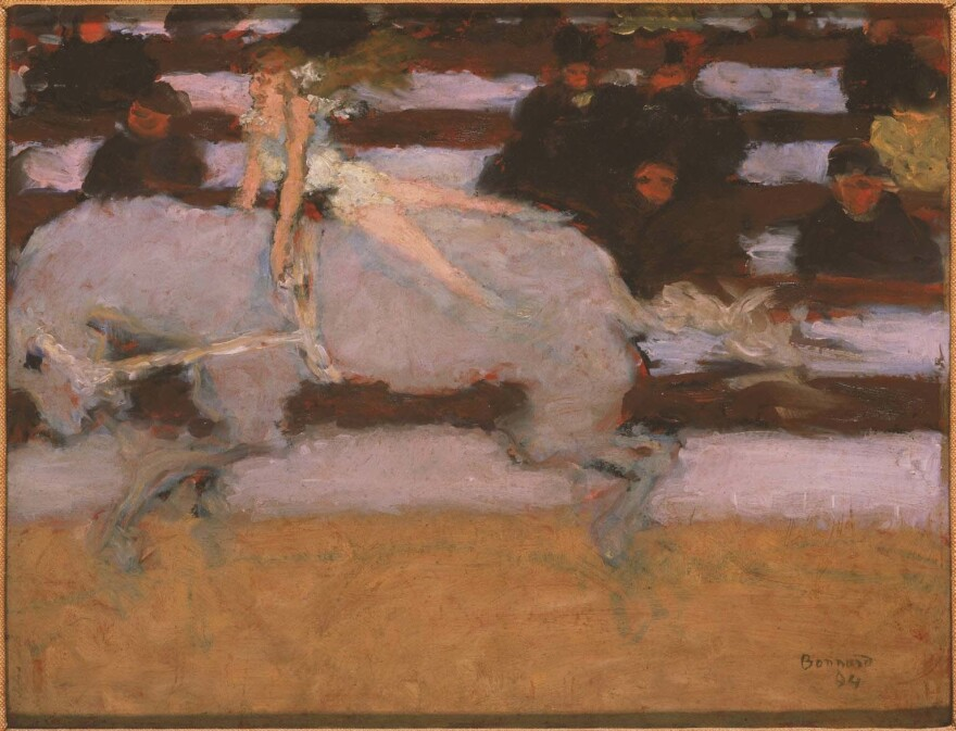Pierre Bonnard's<em> Circus Rider </em>(1894, oil on academy board) was acquired in 1947.