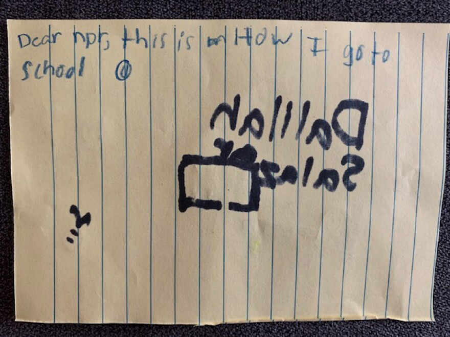 And on the back of her postcard, Dalilah showed us her mature sense of humor.