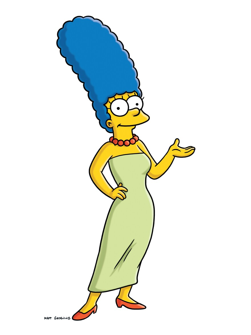 The inspiration for Marge Simpson, from the animated series <em>The Simpsons</em>, died April 22. Margaret Groening, the mother of <em>Simpsons</em>' creator Matt Groening, was 94.
