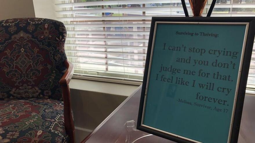 Words of survivors are posted through the new  the Sexual Assault Forensic Exam Center.