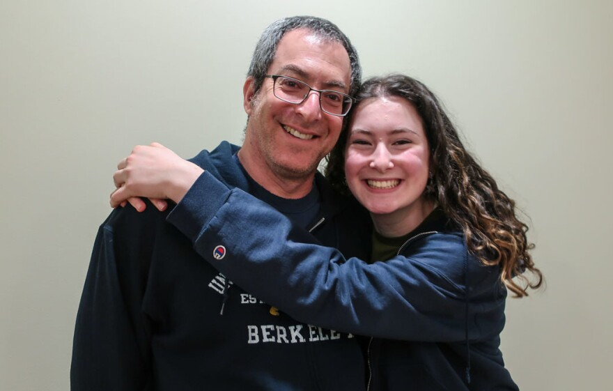 At their <em>StoryCorps</em> interview in Portland, Ore., in March, Josh Weiner and his daughter, Sylvia Grosvold, remember Grosvold's mother, who died by suicide 11 years ago.