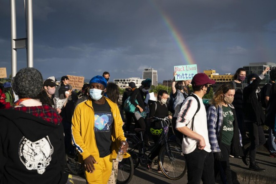 More than a thousand protesters gathered in Portland in the third week of widespread demonstrations against structural racism and police violence on June 15, 2020.