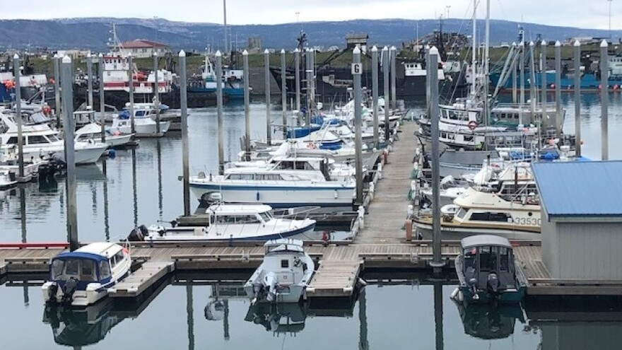 Fishing boats sit in the harbor in Homer, Alaska. Women make up about 15% of commercial fishermen, and say sexual harassment is all too common.