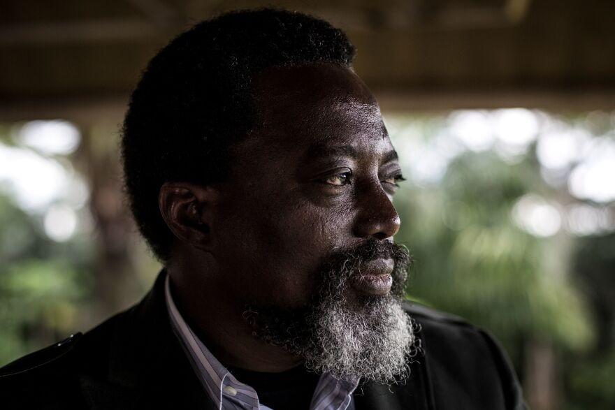 Congo's President Joseph Kabila at his farm outside the capital Kinshasa.