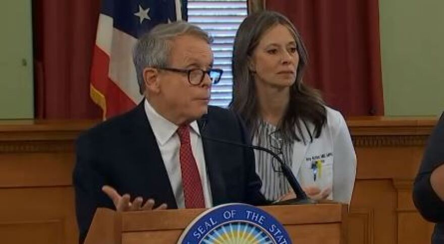 a photo of DeWine and Acton