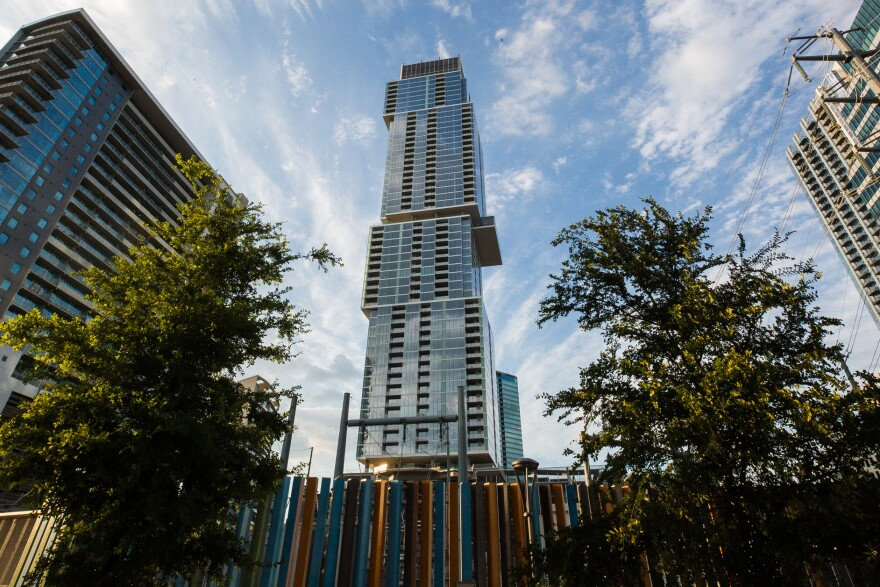 """Some people are complaining about the appearance of the """"crown"""" at the top of Austin's tallest building, The Independent."""