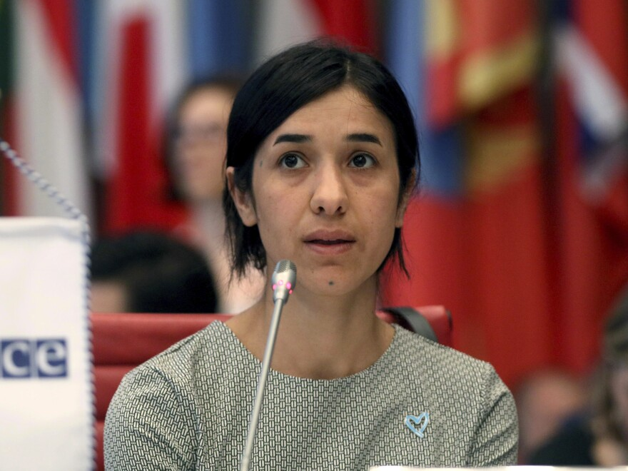 Human rights activist and U.N. Goodwill Ambassador Nadia Murad announced she is engaged to a fellow activist.