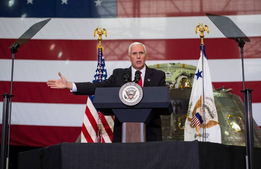 Vice President Mike Pence during a recent visit to NASA