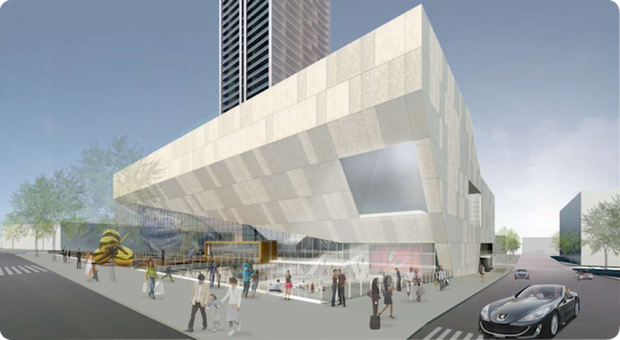 Artist's rendering of Street level view of the Science and technology museum.png