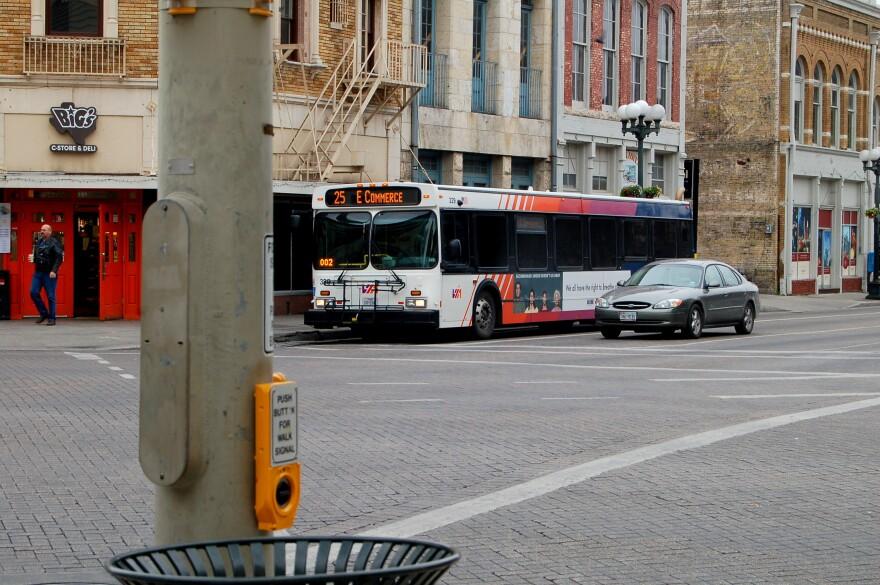 A file photo of a VIA bus in San Antonio.